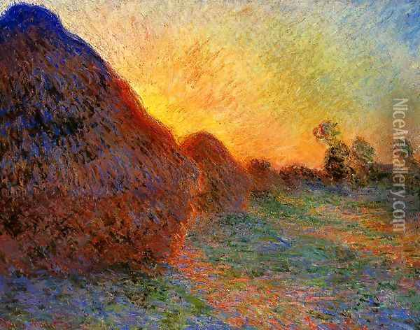Grainstacks Oil Painting - Claude Oscar Monet