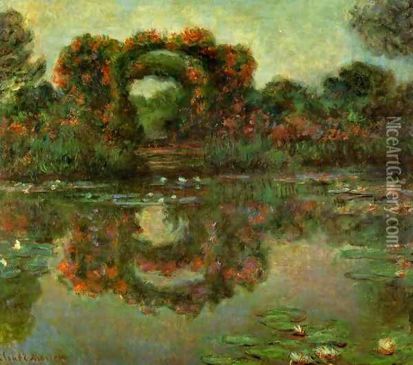 The Flowered Arches At Giverny Oil Painting - Claude Oscar Monet