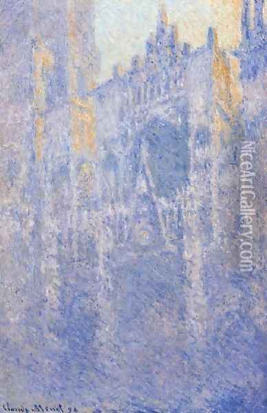 Rouen Cathedral The Portal Morning Fog Oil Painting - Claude Oscar Monet