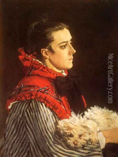 Camille With A Small Dog Oil Painting - Claude Oscar Monet