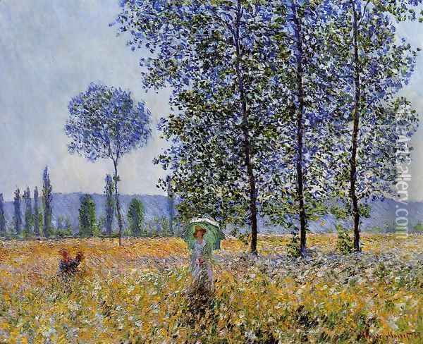 Sunlight Effect Under The Poplars Oil Painting - Claude Oscar Monet