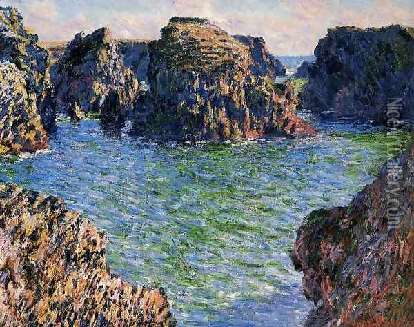 Coming Into Port Goulphar Belle Ile Oil Painting - Claude Oscar Monet