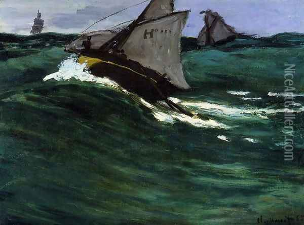 The Green Wave Oil Painting - Claude Oscar Monet