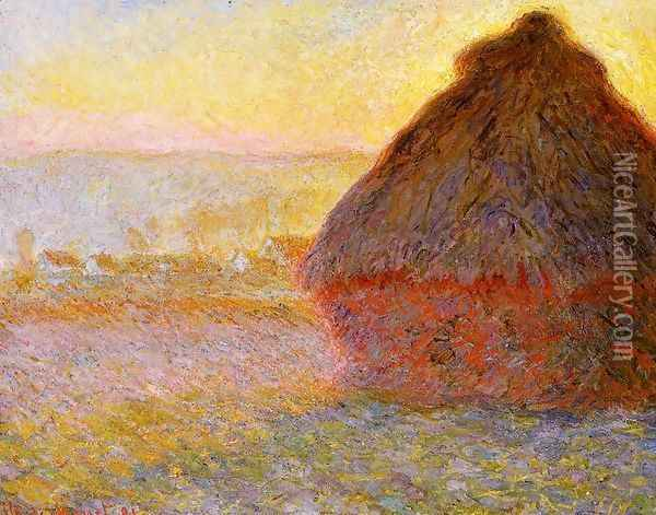 Grainstack At Sunset Oil Painting - Claude Oscar Monet