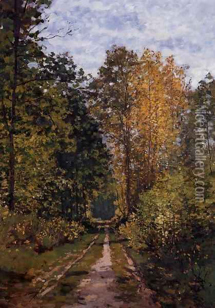 Path In The Forest Oil Painting - Claude Oscar Monet