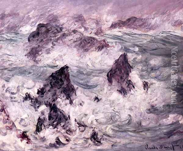 Storm At Belle Ile Oil Painting - Claude Oscar Monet