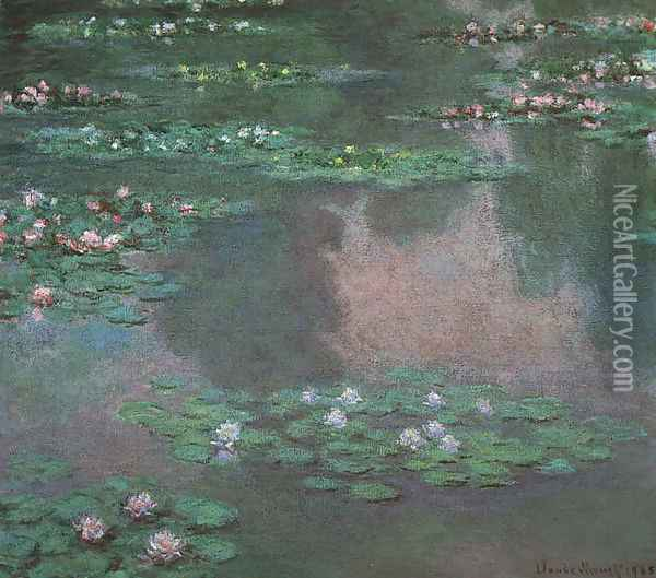 Water Lillies I Oil Painting - Claude Oscar Monet