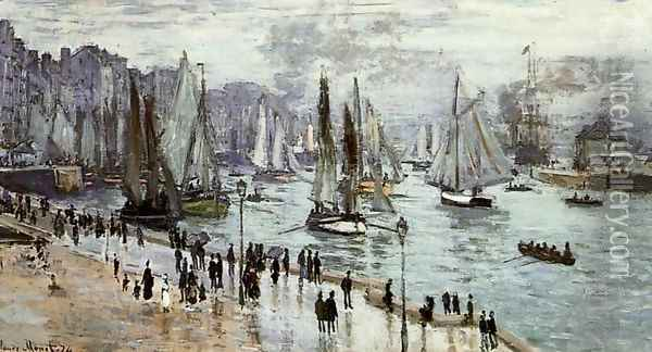 Fishing Boats Leaving The Port Of Le Havre Oil Painting - Claude Oscar Monet