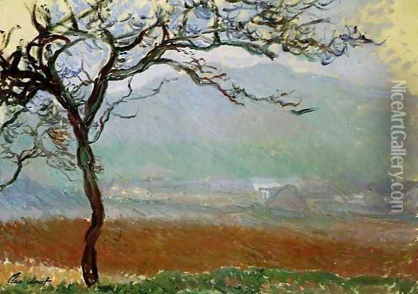Landscape At Giverny Oil Painting - Claude Oscar Monet