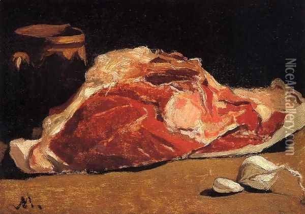 Still Life With Meat Oil Painting - Claude Oscar Monet