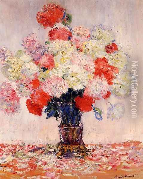 Vase Of Peonies Oil Painting - Claude Oscar Monet