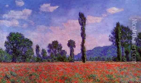 Poppy Field In Giverny Oil Painting - Claude Oscar Monet
