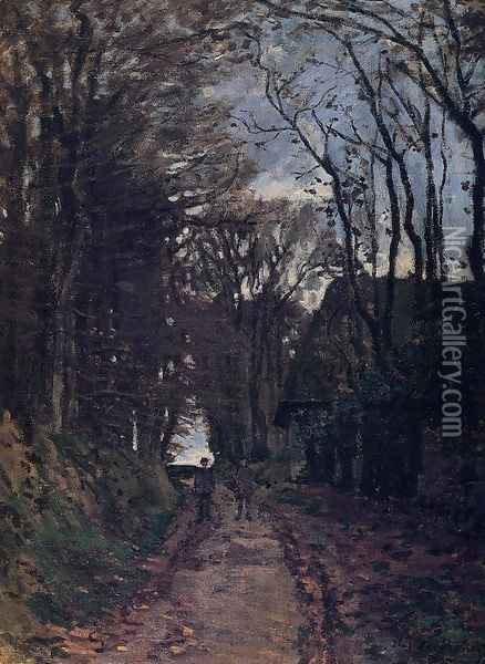 Lane In Normandy Oil Painting - Claude Oscar Monet