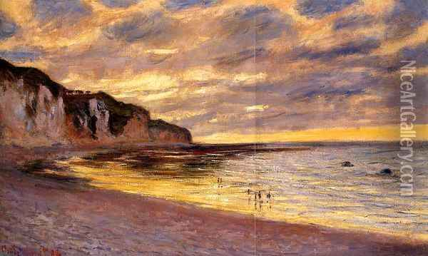 L'Ally Point, Low Tide Oil Painting - Claude Oscar Monet