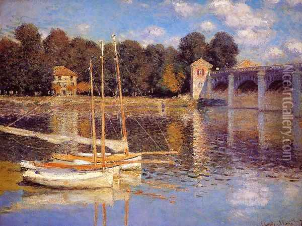 The Bridge At Argenteuil Oil Painting - Claude Oscar Monet
