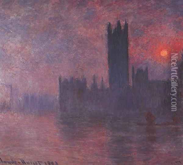 Houses of Parliament Oil Painting - Claude Oscar Monet