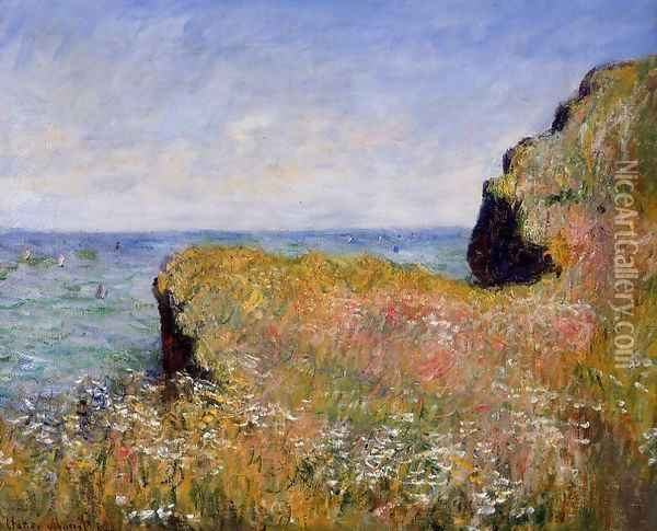 Edge Of The Cliff At Pourville Oil Painting - Claude Oscar Monet