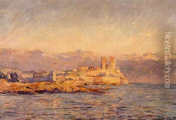 The Castle In Antibes Oil Painting - Claude Oscar Monet