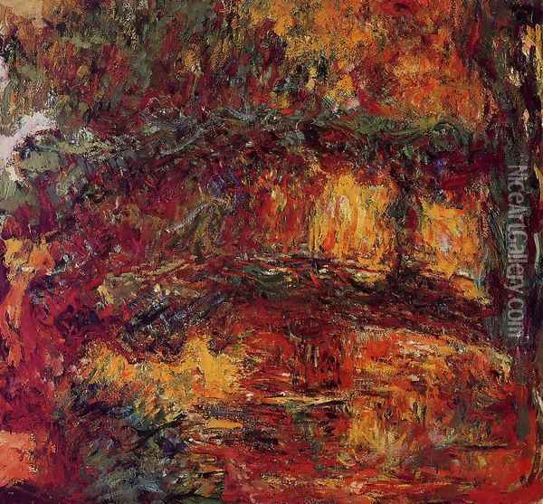 The Japanese Bridge At Giverny Oil Painting - Claude Oscar Monet