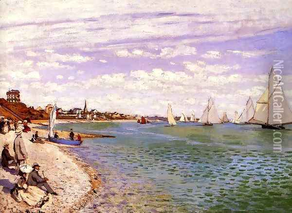 Regatta At Sainte Adresse Oil Painting - Claude Oscar Monet