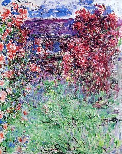 The House Among The Roses2 Oil Painting - Claude Oscar Monet