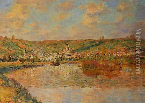 Late Afternoon In Vetheuil Oil Painting - Claude Oscar Monet