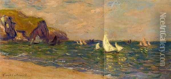 Sailboats At Sea Pourville Oil Painting - Claude Oscar Monet