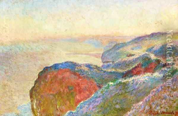At Val Saint-Nicolas near Dieppe, Morning Oil Painting - Claude Oscar Monet