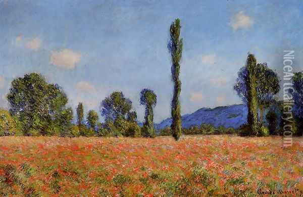 Poppy Field Giverny Oil Painting - Claude Oscar Monet
