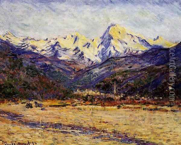 The Valley Of The Nervia Oil Painting - Claude Oscar Monet