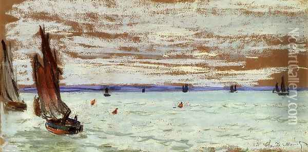 Open Sea Oil Painting - Claude Oscar Monet
