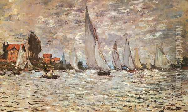 Regatta at Argenteuil 1874 Oil Painting - Claude Oscar Monet