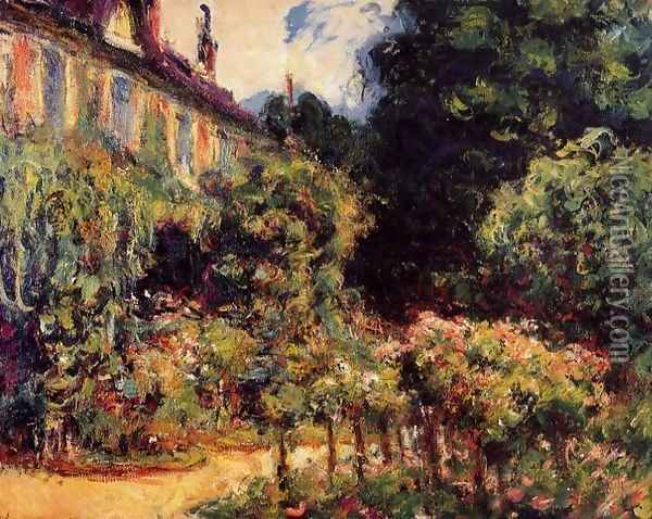 The Artists House At Giverny Oil Painting - Claude Oscar Monet