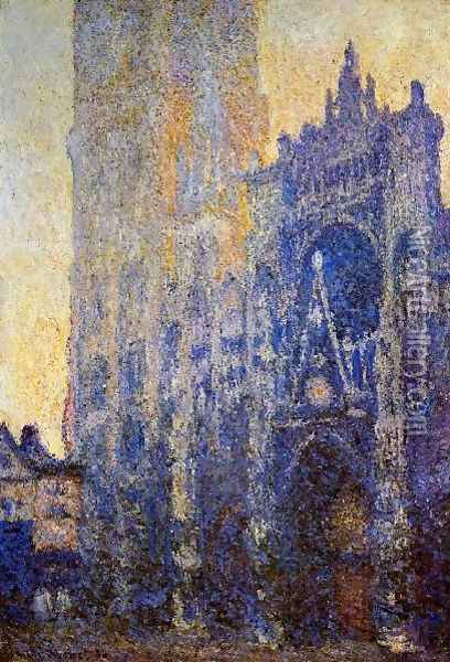 Rouen Cathedral The Portal Morning Effect Oil Painting - Claude Oscar Monet