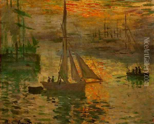 Sunrise Aka Seascape Oil Painting - Claude Oscar Monet