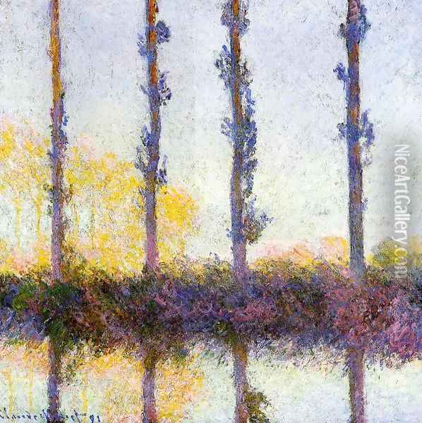 Four Poplars Oil Painting - Claude Oscar Monet