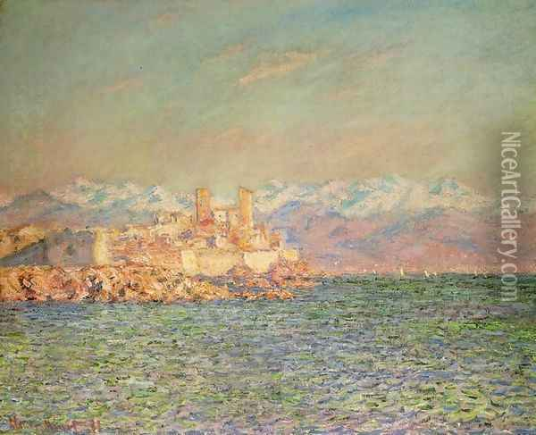 Old Fort at Antibes Oil Painting - Claude Oscar Monet
