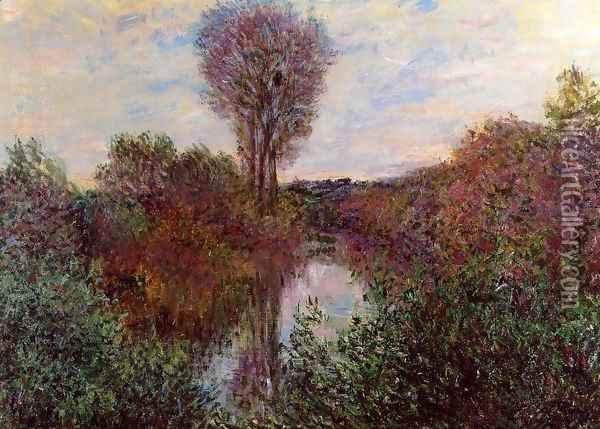 Small Arm Of The Seine At Mosseaux Oil Painting - Claude Oscar Monet