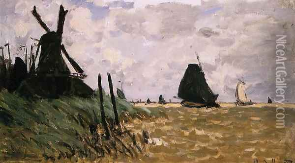Windmill Near Zaandam Oil Painting - Claude Oscar Monet
