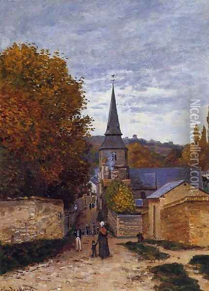 Street In Saint Adresse Oil Painting - Claude Oscar Monet