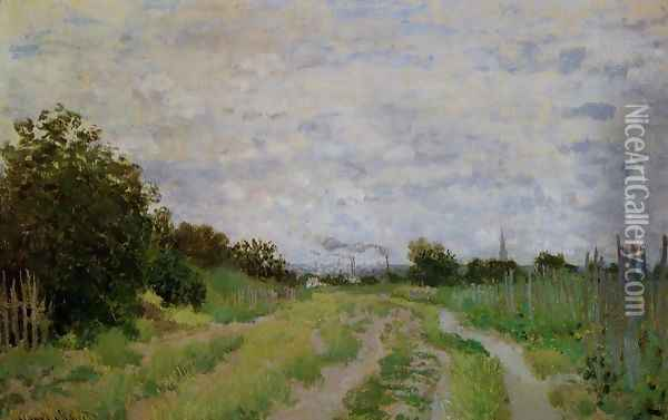 Lane In The Vineyards At Argenteuil Oil Painting - Claude Oscar Monet