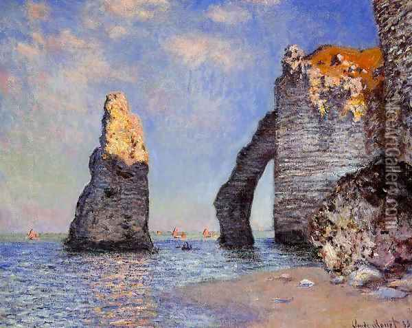 The Rock Needle And The Porte D Aval Oil Painting - Claude Oscar Monet