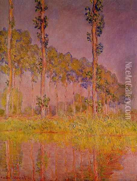 Three Trees In Spring Oil Painting - Claude Oscar Monet