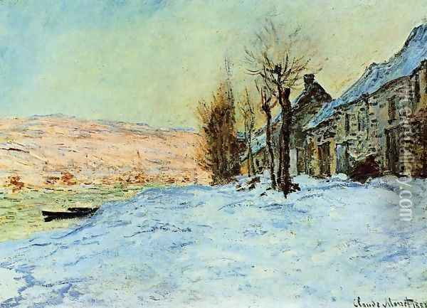 Lavacourt Sun And Snow Oil Painting - Claude Oscar Monet