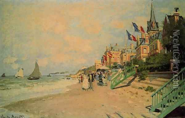 The Beach At Trouville2 Oil Painting - Claude Oscar Monet