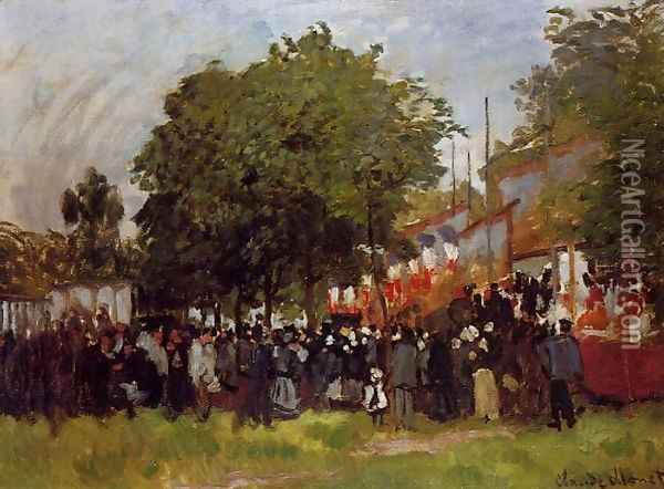 Fete At Argenteuil Oil Painting - Claude Oscar Monet
