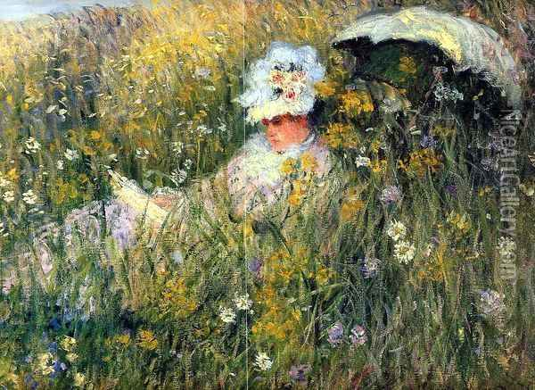 In the Meadow (detail) Oil Painting - Claude Oscar Monet