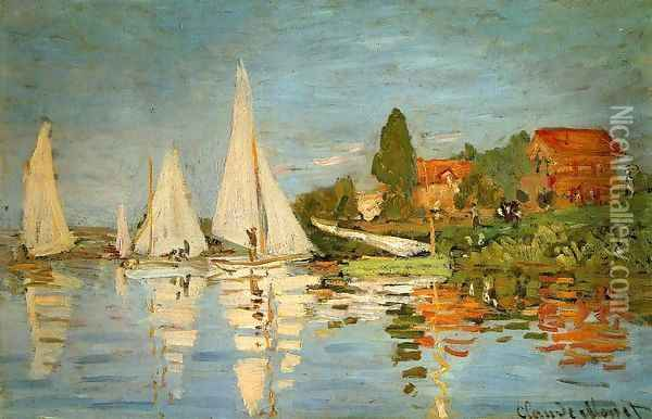 Regatta At Argenteuil Oil Painting - Claude Oscar Monet