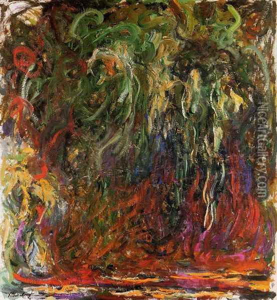 Weeping Willow, Giverny Oil Painting - Claude Oscar Monet