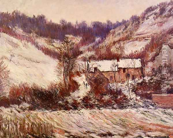Snow Effect At Falaise Oil Painting - Claude Oscar Monet